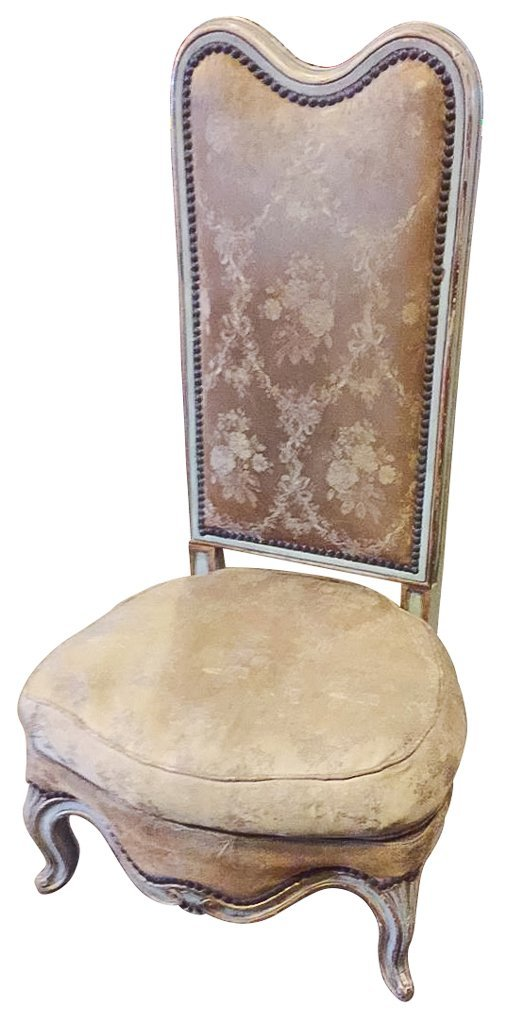 19th C. French Low Slipper Chair