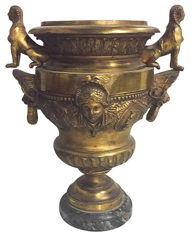 19th C. French Empire Bronze Urn,