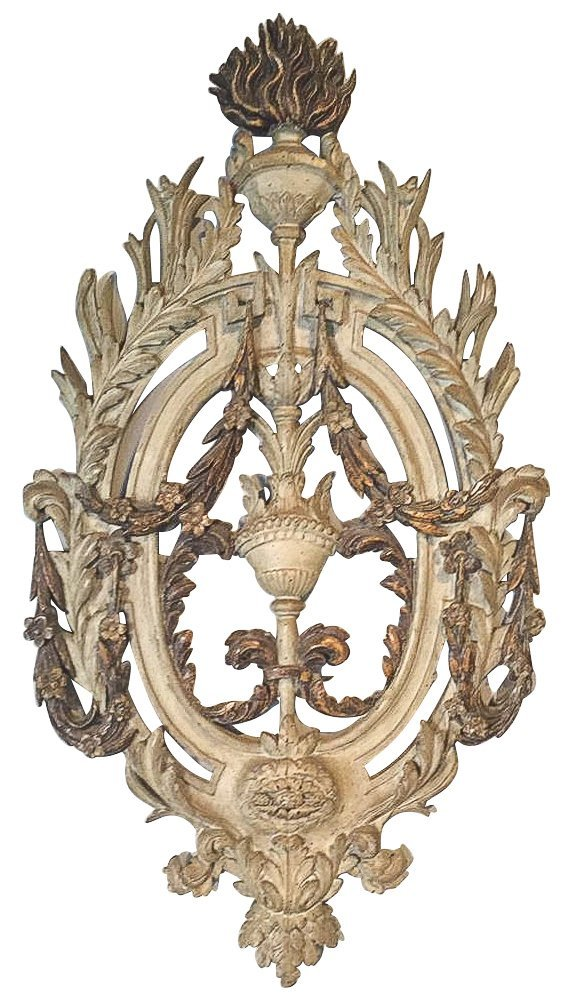 19th C. French Carved Panel, With Acanthas