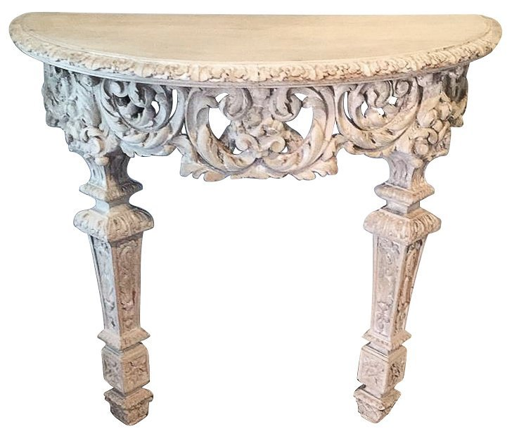 19th Century French Console, Demilune,