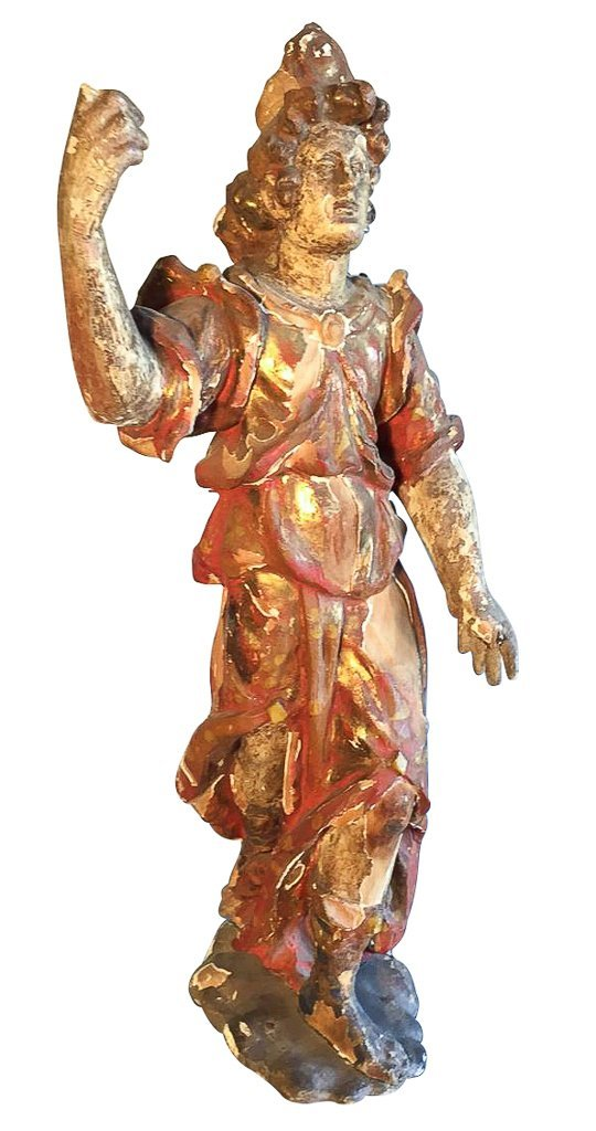 18th C. French Polychrome Figure,