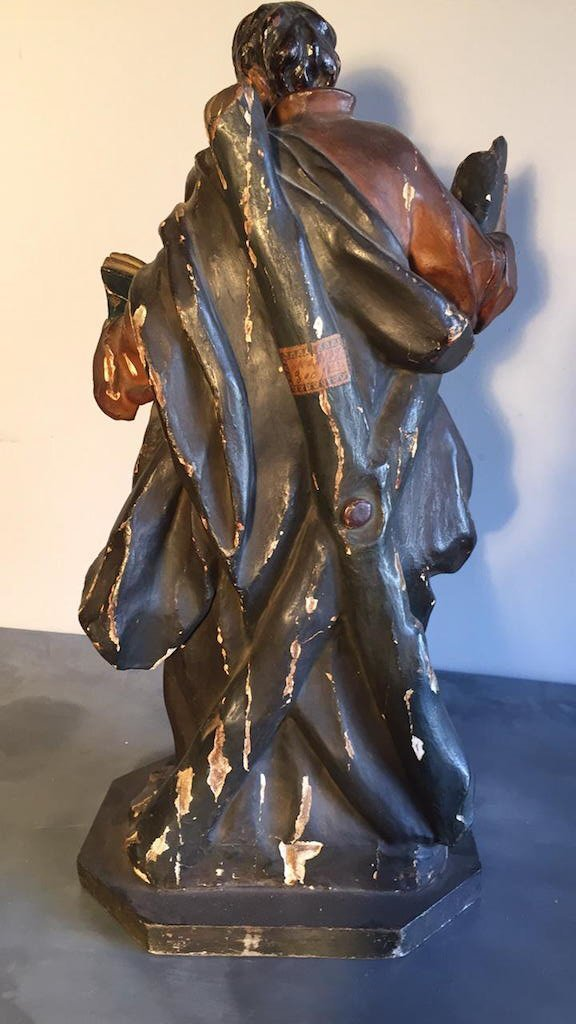 18th C. French Carved Religious Statue, - 3