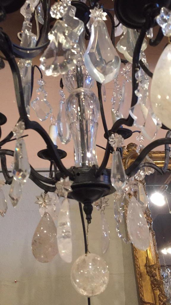 Antique French Rock Crystal Chandelier - 4