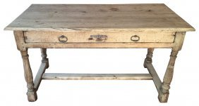 18th Century French Bleached Oak Table Desk