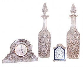 Waterford Table Clock With Swiss Table Clock