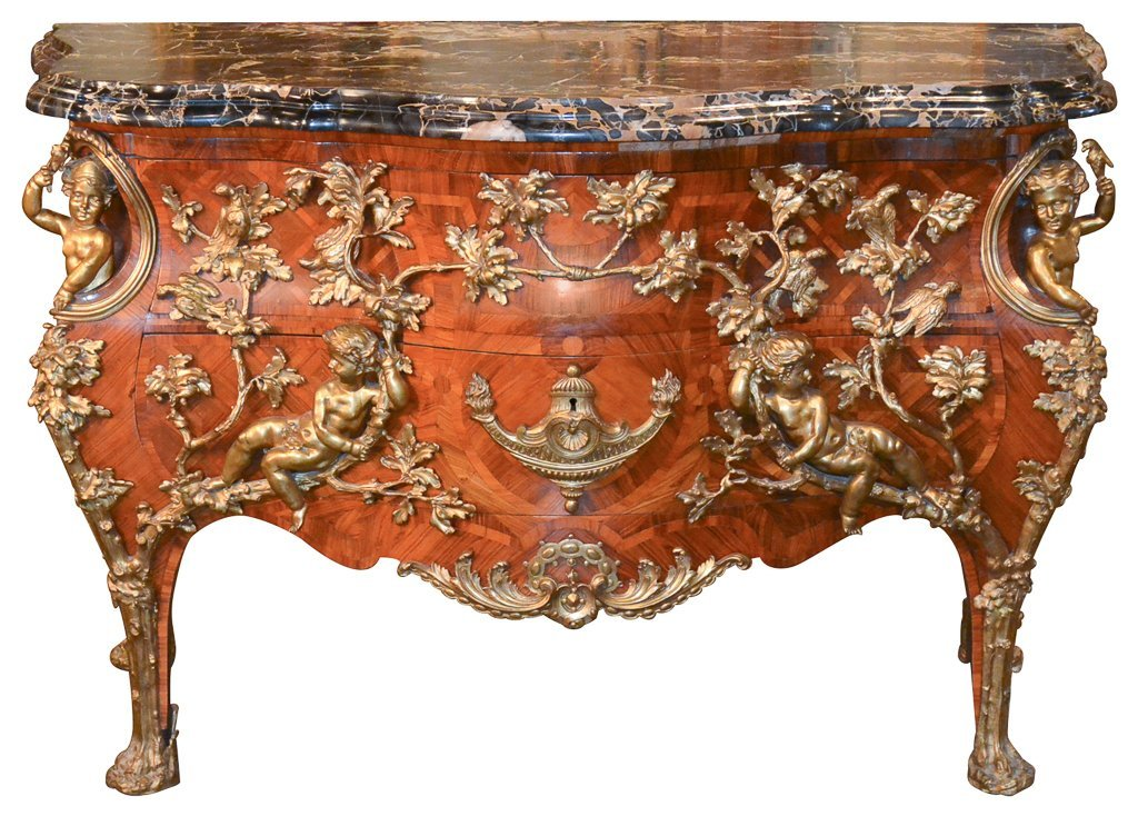Exceptional French Bronze Mounted Commode