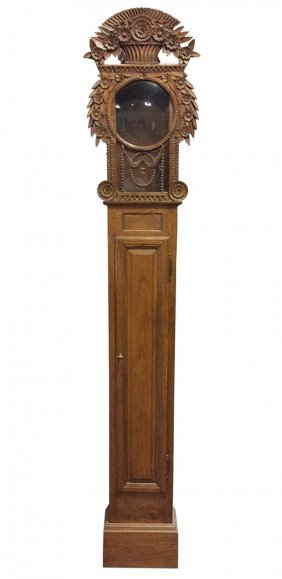 French Oak Clock Case