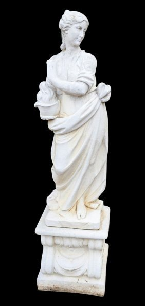 French Style Cast Stone Statue Of Lady