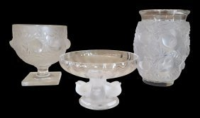 Group Of Signed Lalique Pieces Including The