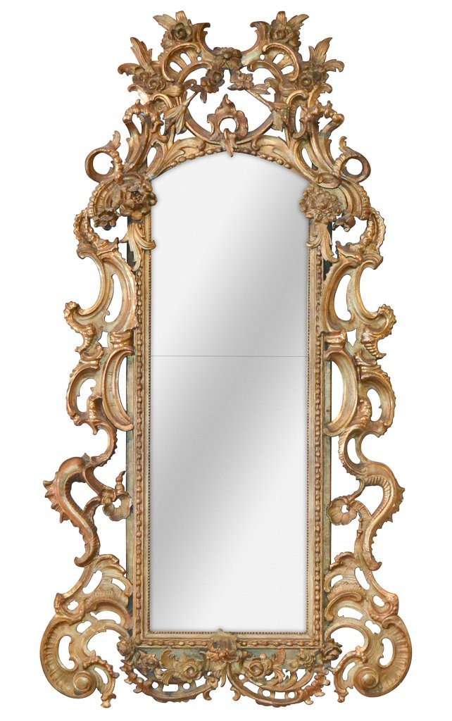 18th C. Italian Carved And Gilt Mirror