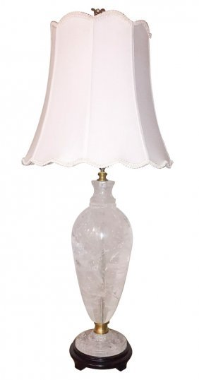 Large Rock Crystal Lamp