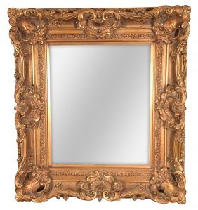 English Style Gilt Mirror With Beveled Glass