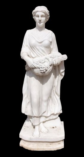 French Style Marble Garden Statue