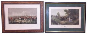 Group Of 2 English Hunt Scene Engravings