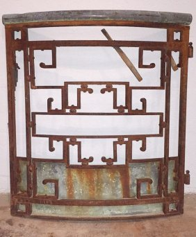 A French Antique Iron Gate
