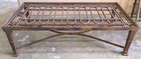 Large French Cast Iron Coffee Table