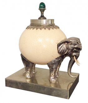 19th C. Elephant Form Compote With
