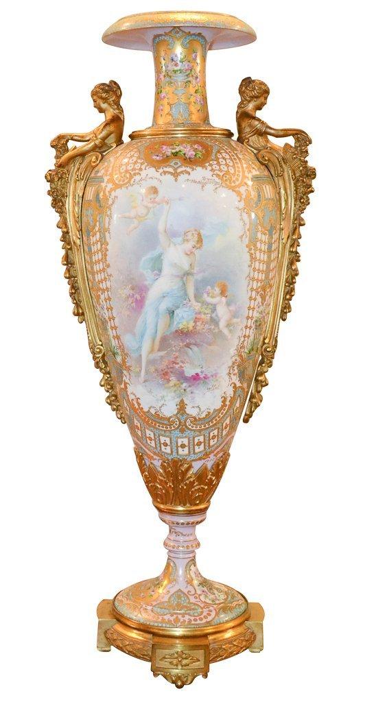 Fine Palace Size French Sevres Vase