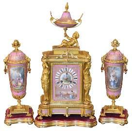 Very Fine French Sevres 3-piece Garniture