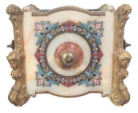19th C. French Onyx & Cloisonne' Planter