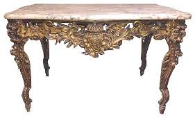Fine 18th C. French Giltwood Center Table