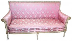 Superb 19th C. French Louis Xvi Gilt-painted