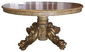 Antique Italian Carved  Giltwood Center Table