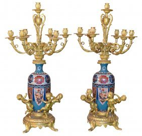Exceptional Pair Of French Dore' Bronze