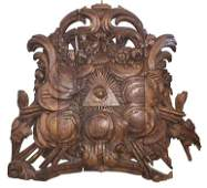 An 18th C. French Carved Oak Wall Plaque