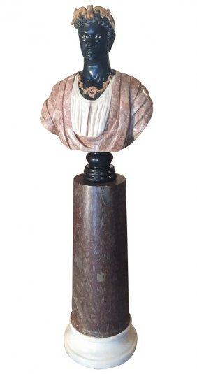 19th C. Venetian Marble Blackamoor