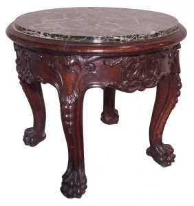 Irish Chippendale Design Carved Marble Topped