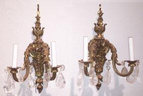 Pair Of French Napoleon Iii Bronze Sconce