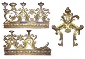 Group Of Italian Carved And Gilt Architectural