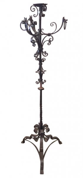 French Hand Forged Iron Floor Lamp
