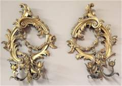 Pr Of French Or Italian Giltwood Sconce