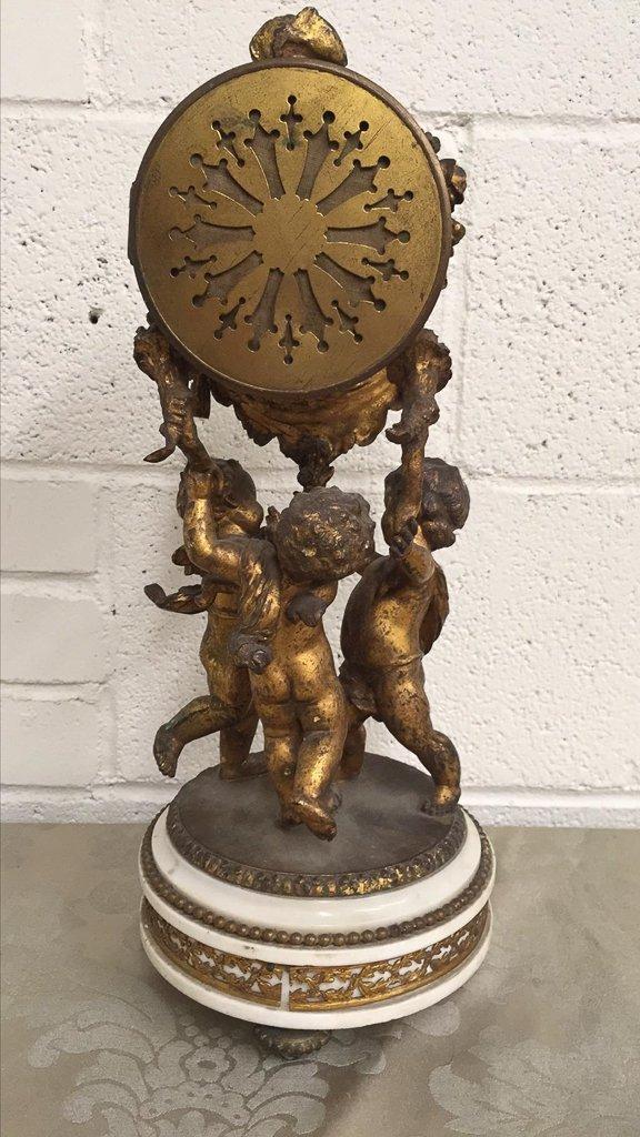 19th Century French Bronze Mantel Clock - 6