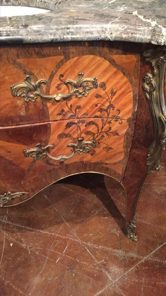 Fine French Marquetry Commode As Vanity - 2