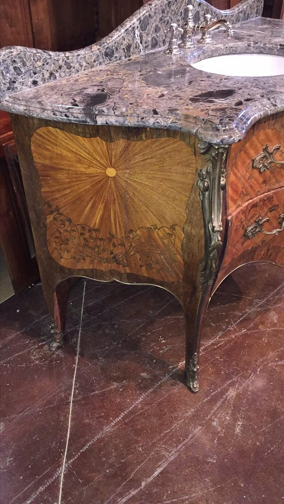 Fine French Marquetry Commode As Vanity - 5