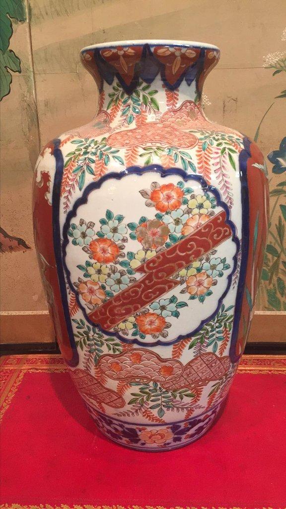 Fine Japanese Imari Vase, C. 1870, 16 1/2 - 2
