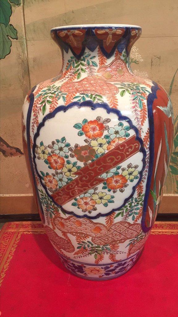 Fine Japanese Imari Vase, C. 1870, 16 1/2 - 4