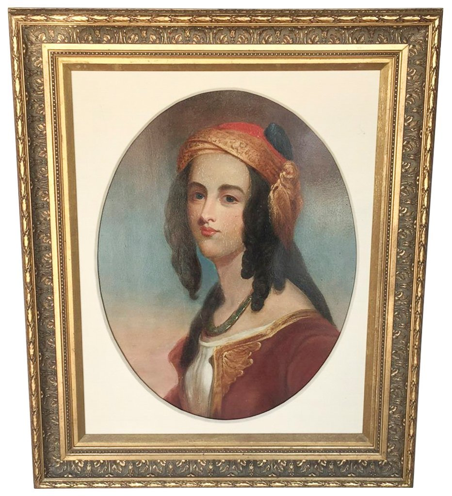 Spanish Oil On Canvas, Portrait Of A Lady