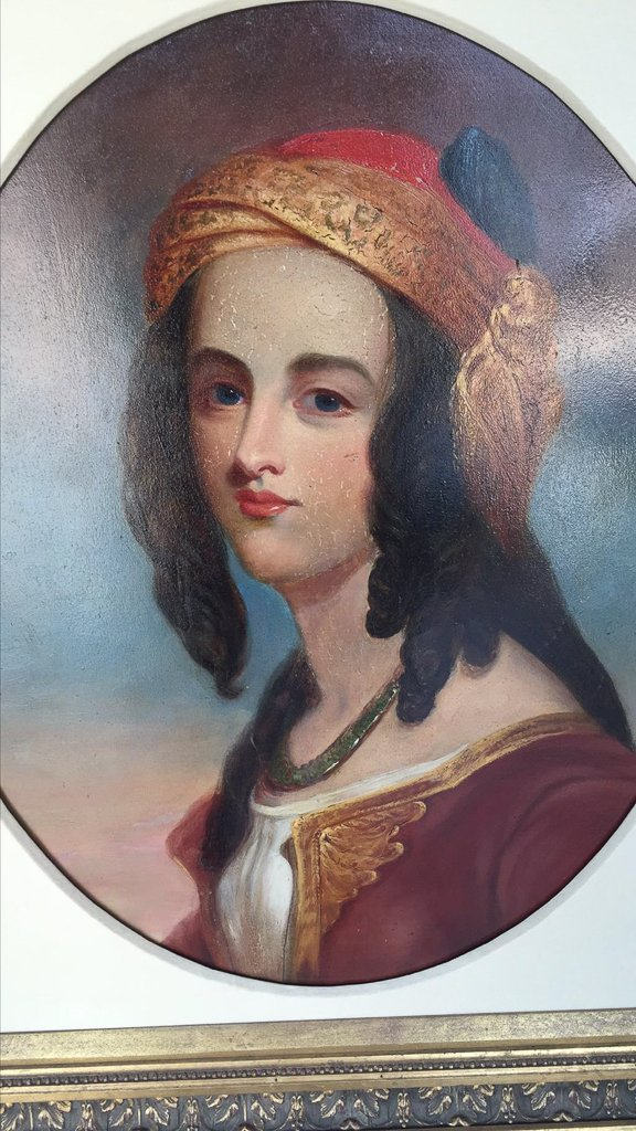 Spanish Oil On Canvas, Portrait Of A Lady - 2