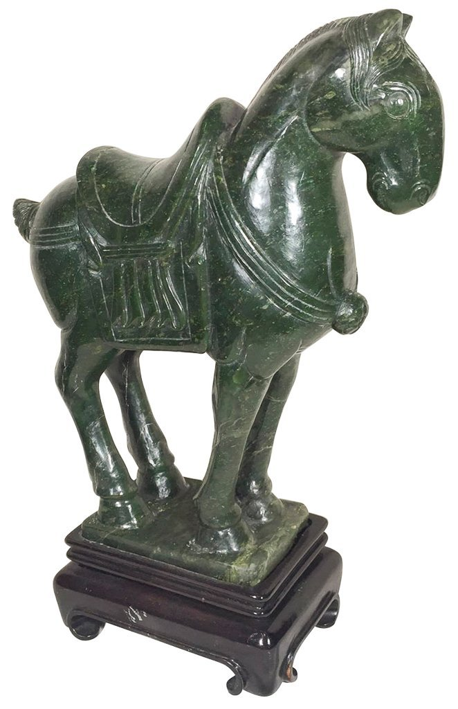 Oriental Spinach Jade Style Tang Dynasty Style Horse