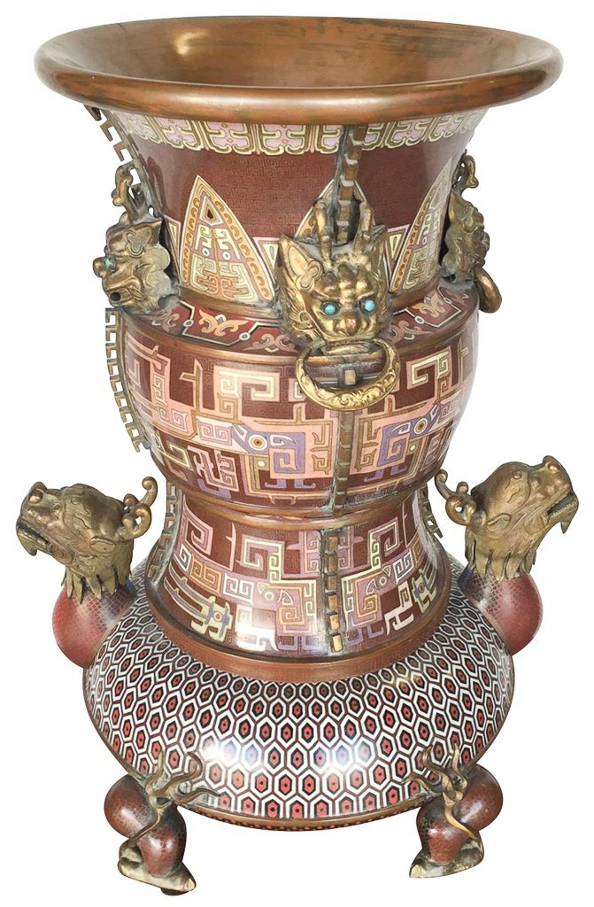Find Quality Chinese Cloisonne Large Vase