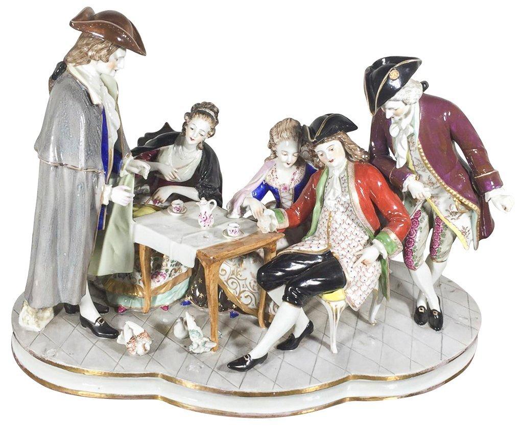 Sitzendorf  German Porcelain Table Model