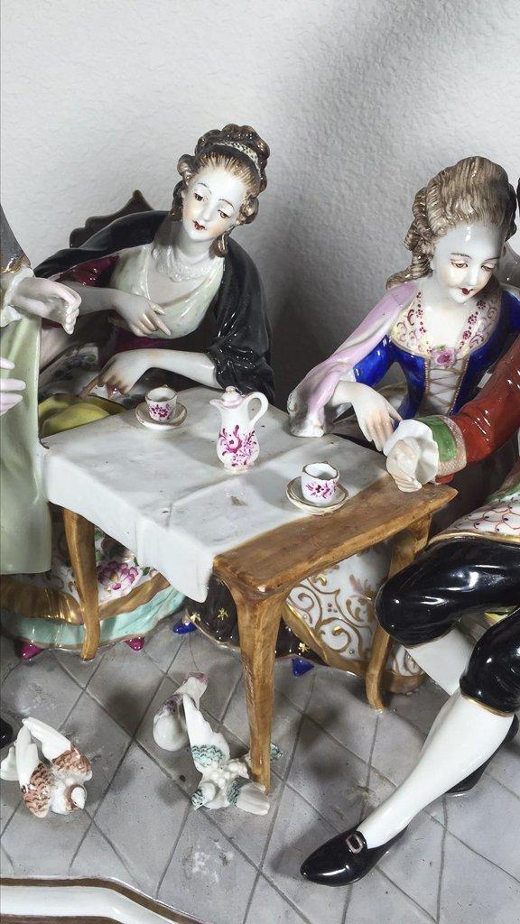 Sitzendorf  German Porcelain Table Model - 2