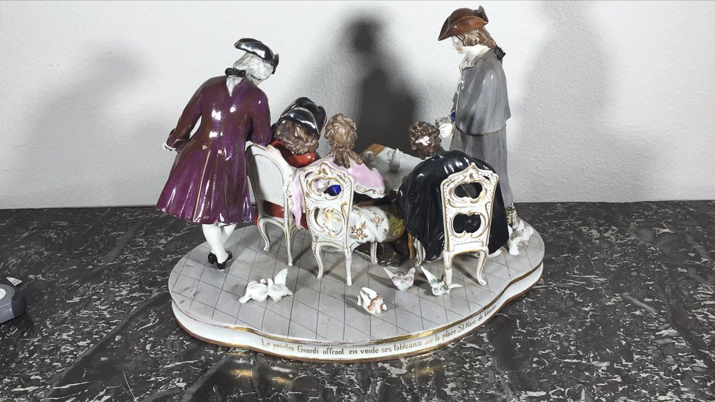 Sitzendorf  German Porcelain Table Model - 4