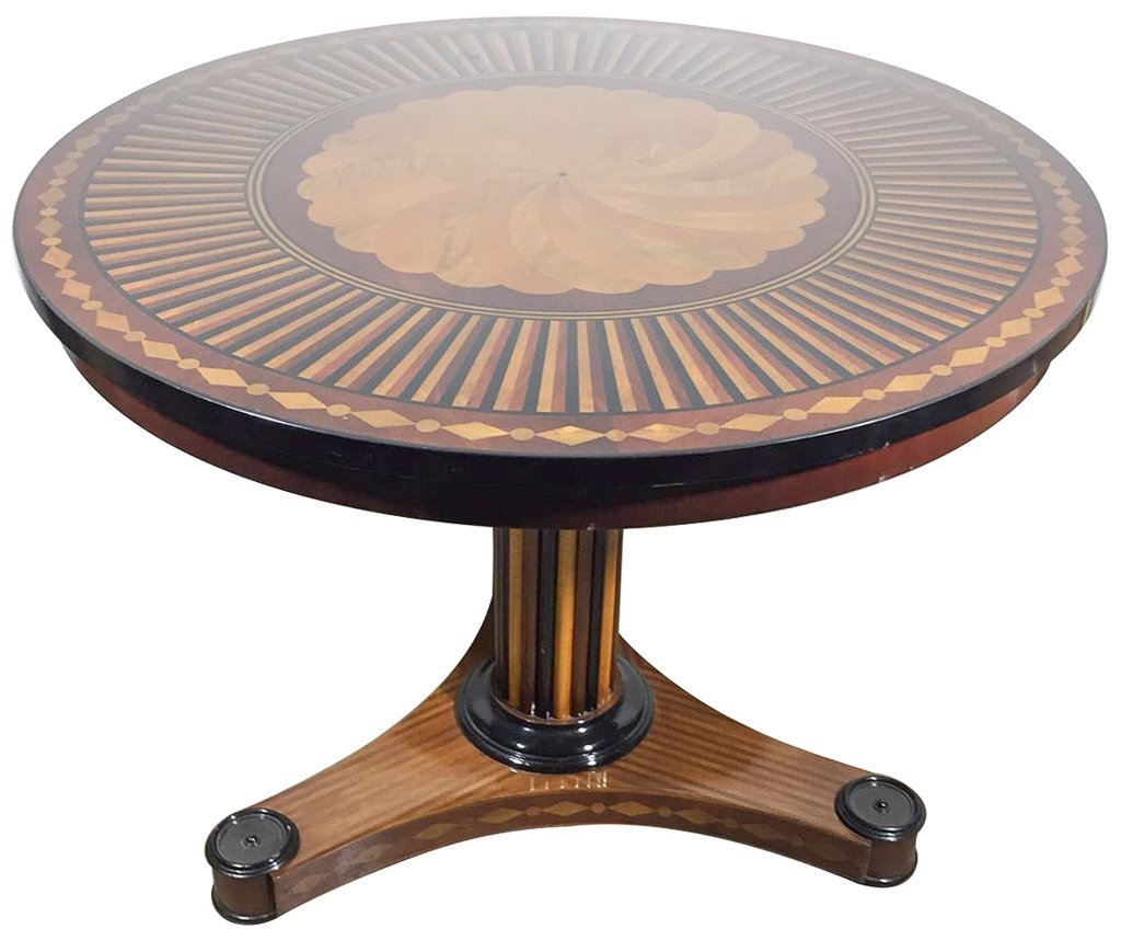 High Quality Regency  Inlaid Center Table