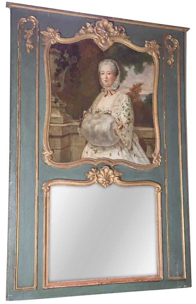 Good 19th C. French Trumeau Mirror
