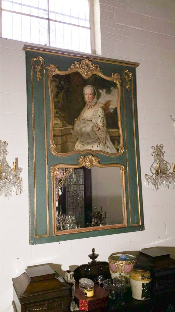 Good 19th C. French Trumeau Mirror - 6